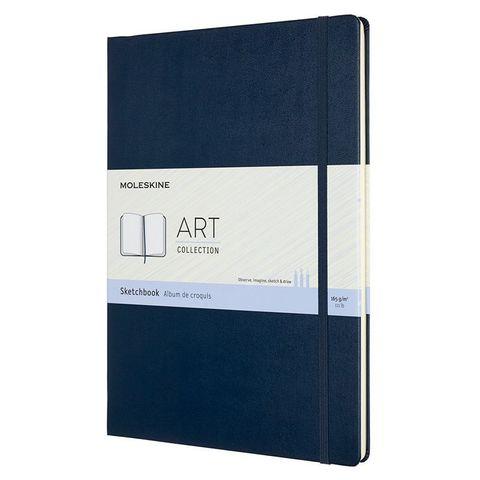 Блокнот для рисования Moleskine ART SKETCHBOOK ARTBF832B20 A4 104стр. твердая обложка синий сапфир