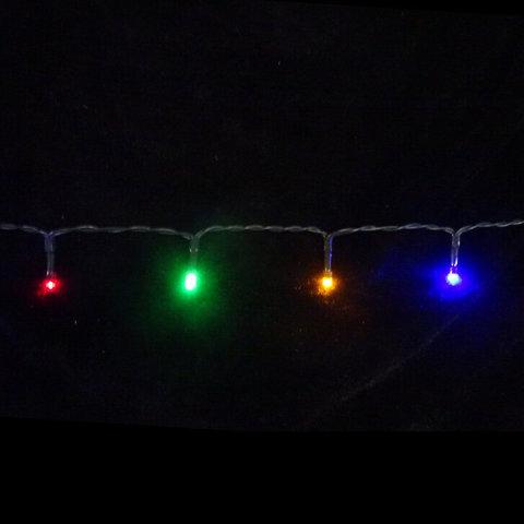 Гирлянда Мультиколор Б/О, 192 лампы, 1440 см, таймер на отключения 6/18 для наружного и внутреннего использования