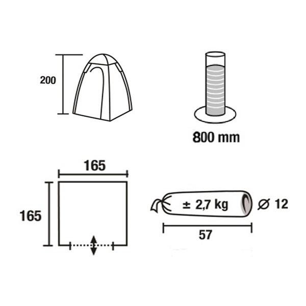 Тент для душа/туалета Green Glade Ardo, 165х165х200 см