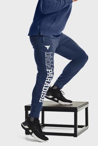Мужские синие спортивные брюки UA Pjt Rock CC Fleece Jogger Under Armour