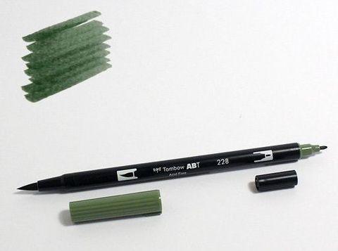 Маркер-кисть Tombow ABT Dual Brush Pen-228, серо-зеленый