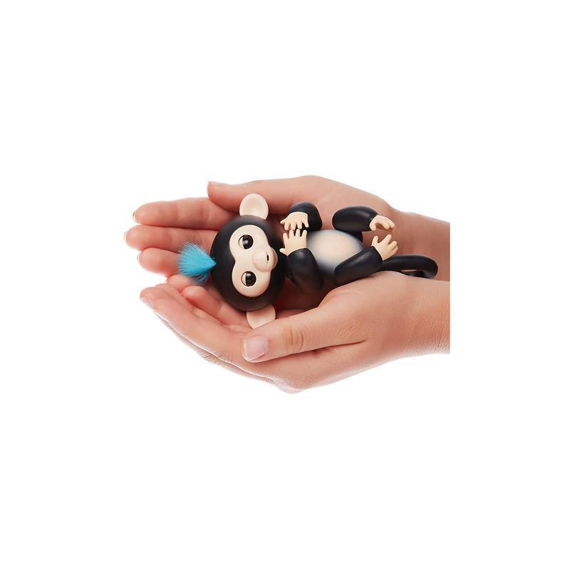 Интерактивная обезьянка Fingerlings Финн чёрный