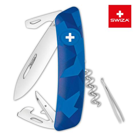 Швейцарский нож Swiza  (KNI.0030.2030) C03 Camouflage 95 мм 11 функций синий