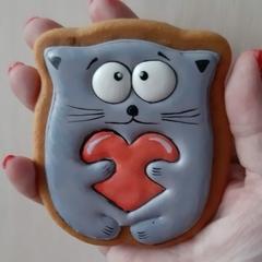 Кот с сердцем №2