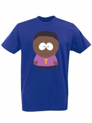 Футболка с принтом мультфильма Южный парк (South Park) синяя 009
