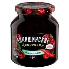 Варенье Лукашинские вишневое без косточки, 450г