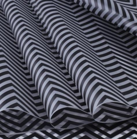 Пленка матовая Зигзаг (размер: 70см х 10м), цвет: черный