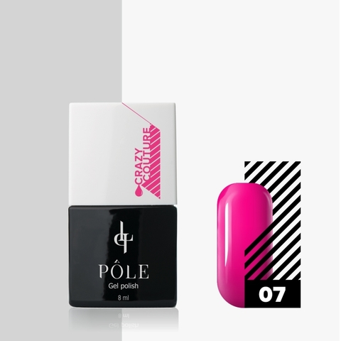 Гель-лак POLE Crazy couture №07 - броская фуксия (8 мл.)