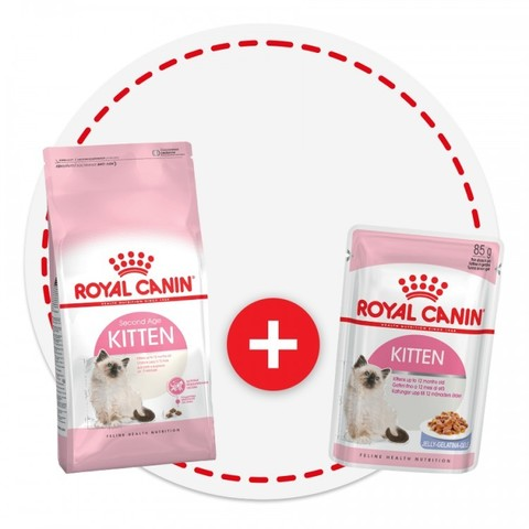 Royal Canin Kitten КОМПЛЕКТ 2кг + паучи 4шт