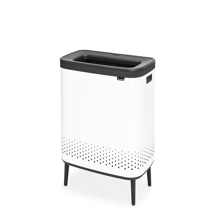Бак для белья Bo Hi с пластиковой крышкой (2 x 45 л), Белый, арт. 200540 - фото 1