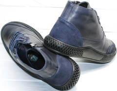 Тёплые ботинки термо осень зима мужские Luciano Bellini BC2802 L Blue.