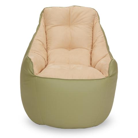 Бескаркасное кресло «Босс», Оливка и бежевый