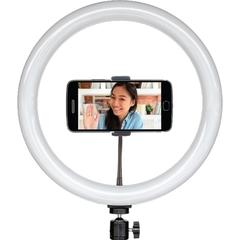 Лампа для сэлфи светильник кольцевой на подставке 36 см