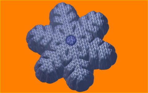 Вязанная снежинка. Форма для мыла пластиковая