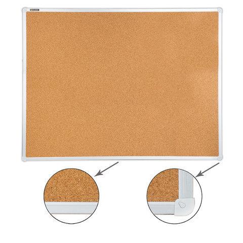 Доска пробковая BRAUBERG для объявлений, алюминиевая рамка