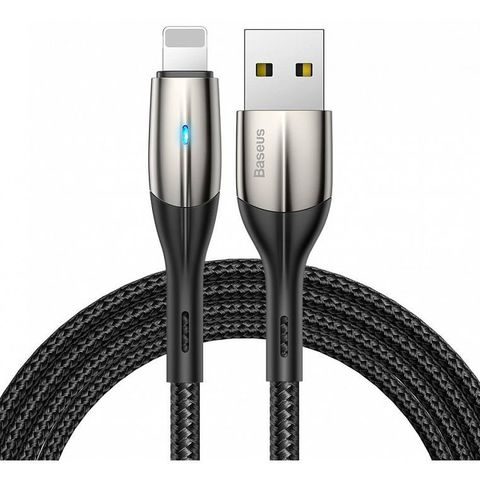 Кабель Baseus Horizontal Data Cable(With An Indicator Lamp)USB For iP 2.4A 1m Black