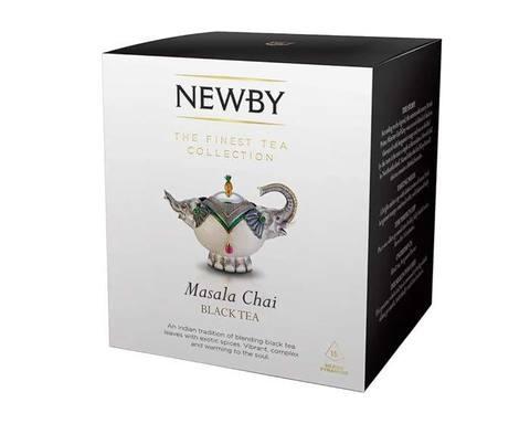 Чай черный в пирамидках Newby Masala chai, 15 пак/уп