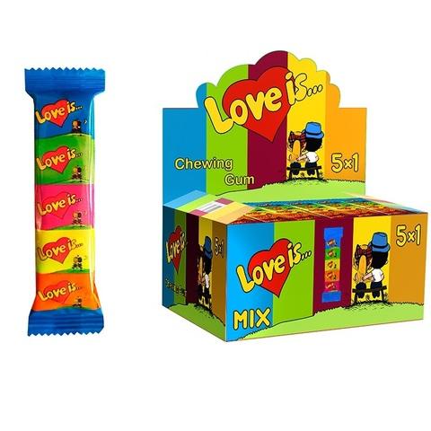 LOVE IS жевательная резинка ассорти вкусов