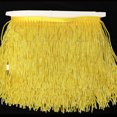 Купить оптом бахрому из стекляруса желтую Citrine AB