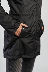 Ветровка-плащ женская черный