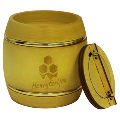 Деревянный бочонок с донниковым мёдом HoneyForYou, 0,5 кг