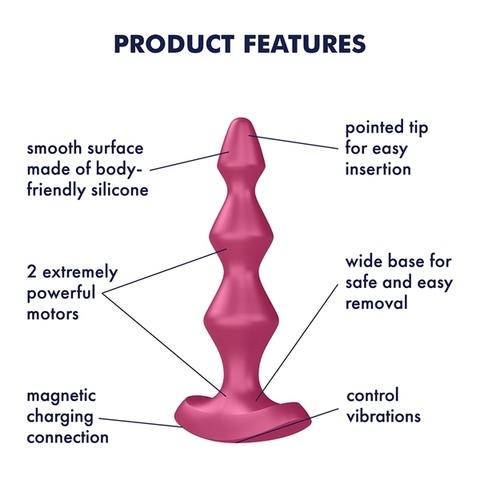 Satisfyer Lolli Plug 1 Анальный вибростимулятор Розовый