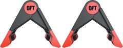 Упоры для отжиманий Original FitTools складные (черно-красные) - 2