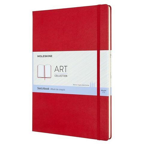 Блокнот для рисования Moleskine ART SKETCHBOOK ARTBF832F2 A4 104стр. твердая обложка красный