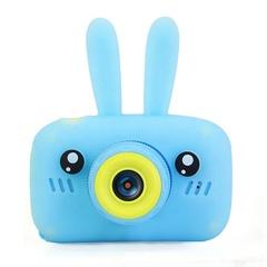 Фотоаппарат детский SmileZoom Зайчик 20 Мп / Голубой