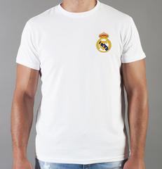 Футболка с принтом FC Real Madrid (ФК Реал Мадрид) белая 0016