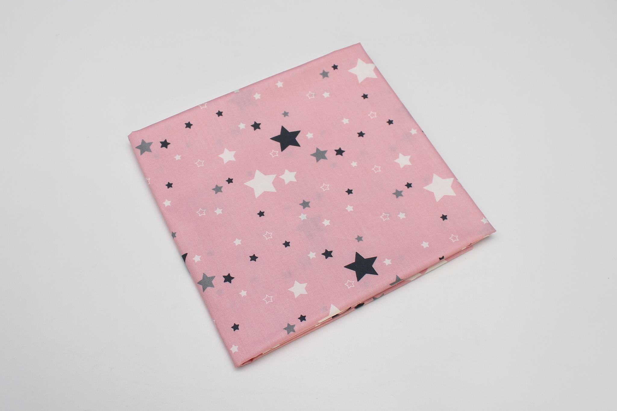 Звезды на ярко-розовом разные