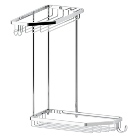 Полочка-решетка 2-х уровневая трапеция развернутая 20х20 см RYNA   RYN013 FBS
