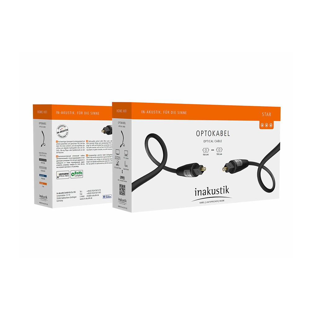 Inakustik Star Optical Cable, Toslink