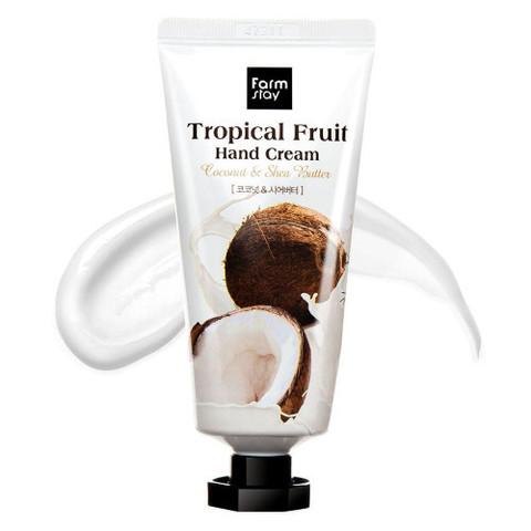 FarmStay Tropical Fruit Hand Cream крем для рук с маслом ши и кокосом