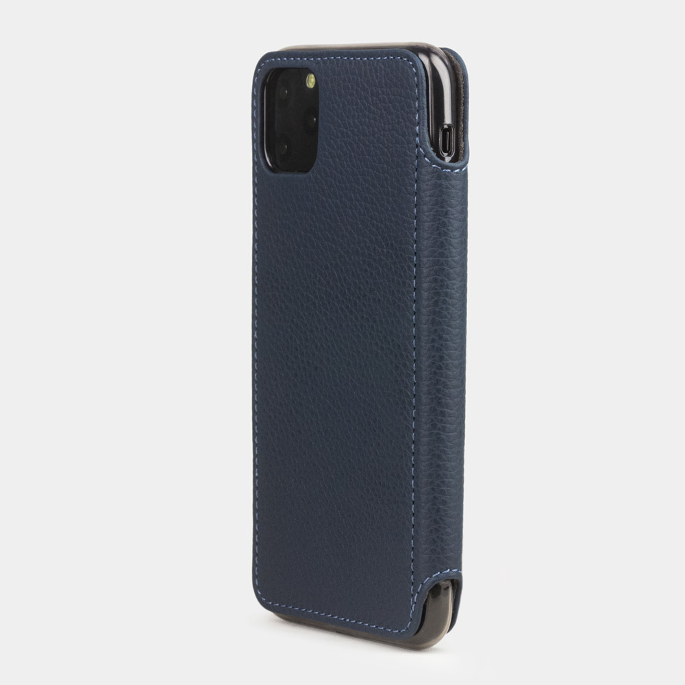 Чехол Benoit для iPhone 11 Pro из натуральной кожи теленка, цвета синий мат