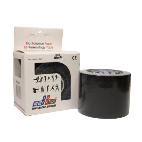 BBtape кинезио тейп ICE (шелк) 5 см х 5 м черный