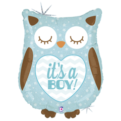 Б Фигура, It's a boy (Это мальчик), Сова голубая, блеск, 26