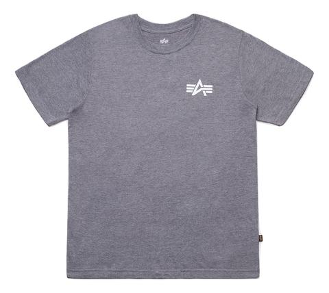 Футболка Alpha Industries Small Logo Grey Женская (Серая)