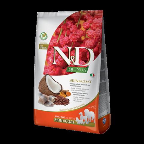 Farmina Quinoa Skin&Coat Herring Сухой корм для собак для здоровья кожи и шерсти Сельдь с Киноа беззерновой