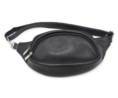 Мужская кожаная сумка на пояс Бонн