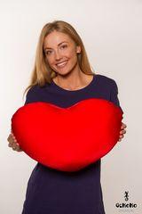 Подушка-игрушка антистресс Gekoko «Большое красное сердце» 1