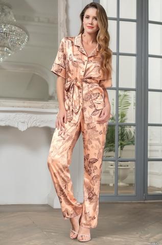 Шелковая пижама-двойка на пуговицах Mia Amore LETUA(70% нат.ше