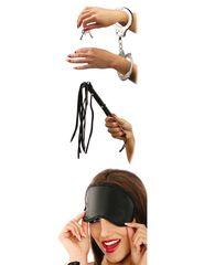 Набор для эротических игр Lover s Fantasy Kit - наручники, плетка и маска