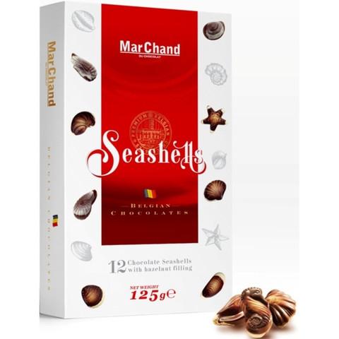 Подарочный набор шоколадных конфет MarChand Ракушки 125 г