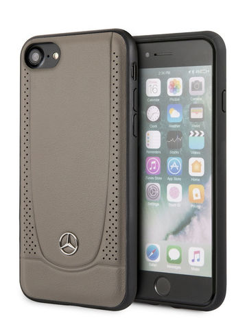 Mercedes / чехол для телефона iPhone 7/8/SE 2020 | Urban Smooth/perforated Hard Leather Brown