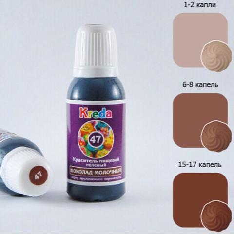 Краситель пищевой гелевый KREDA-S 47 ШОКОЛАД МОЛОЧНЫЙ