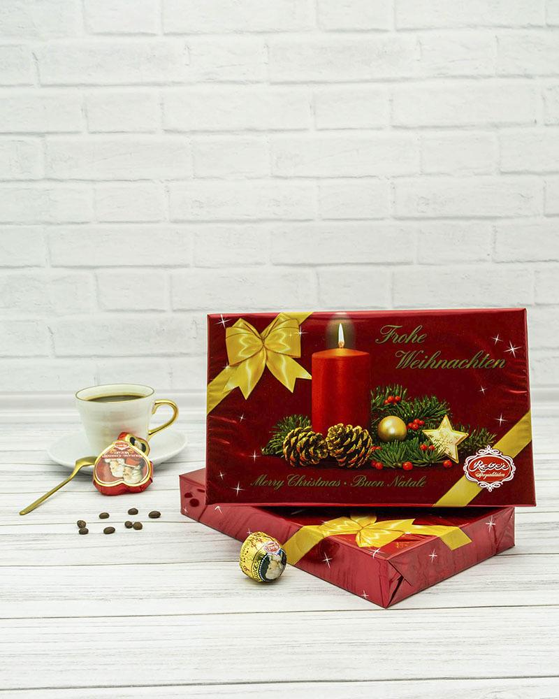 Подарочный Набор Шоколадных Конфет Reber в Новогодней Упаковке 285 гр.
