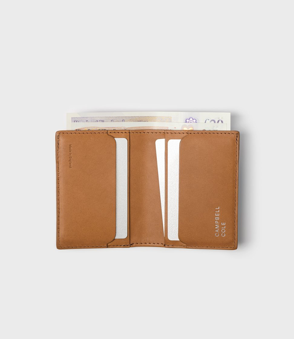 Campbell Cole  Elm Compact Wallet Pebbled  Tan
