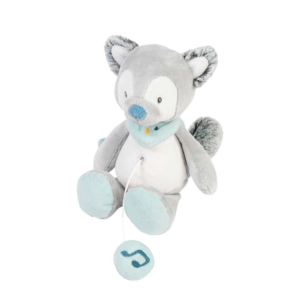 Мягкая музыкальная игрушка Nattou Soft Toy Mini Tim & Tiloo Волк