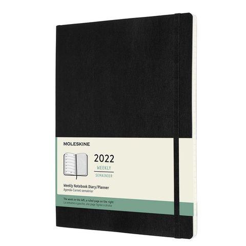 Еженедельник Moleskine (DSB12WN4) Classic Soft WKNT XL 190х250мм 144стр. мягкая обложка черный